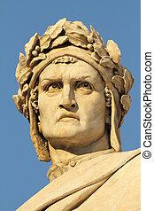 Dante Alighieri - head of Dante Alighieri, famous italian...
