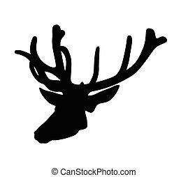 head of deer vector silhouette