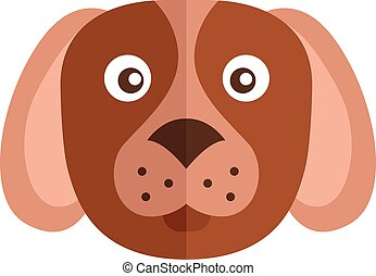 Head of dog isolated on white background vector illustration