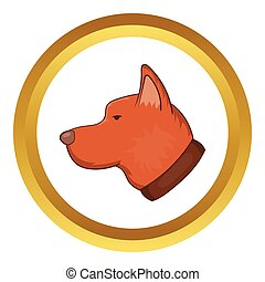 Head of dog vector icon