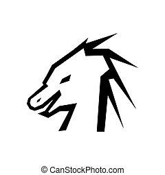 Head of dragon silhouette vector
