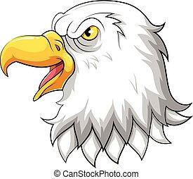 Head of Eagle mascot