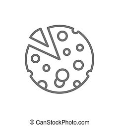 Head of French cheese line icon.