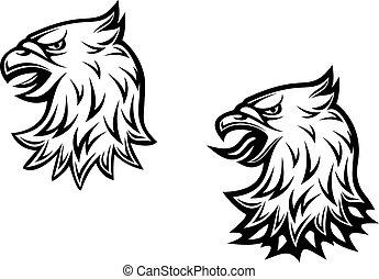 Head of heraldic eagle
