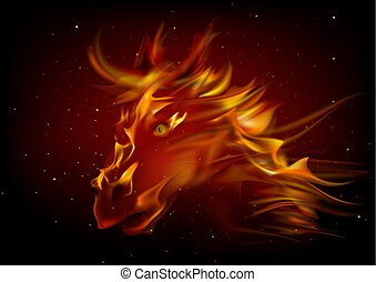 Head of Horse in Fire