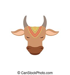 Head Of Indian Holy Cow