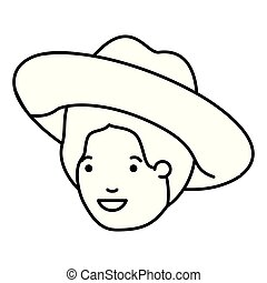 head of man with hat avatar character