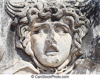 Head of Medusa, Temple of Apollo