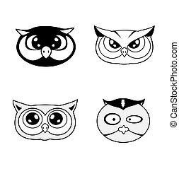 head of owl Illustration