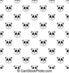 Head of panda pattern, cartoon style