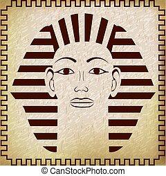Head of Pharaoh Tutankhamun - Pharaoh Tutankhamun. Vector...