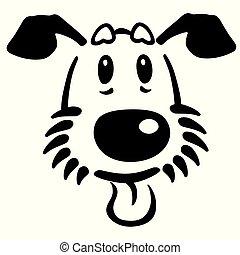 head of puppy logo