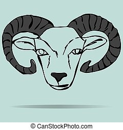 Head of ram mascot