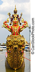 Head of royal barge, supreme art of Thailand.