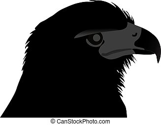 head of the eagle silhouette
