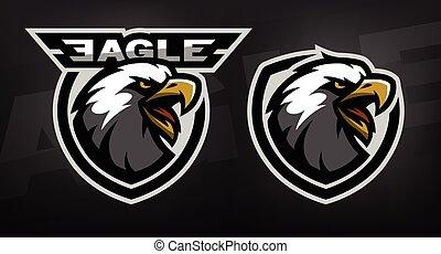 Head of the eagle, sport logo.
