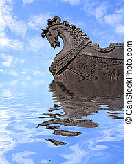 head of the horse on ship