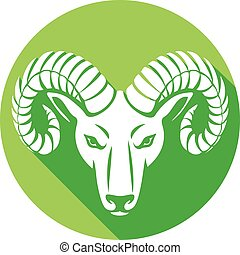 head of the ram flat icon