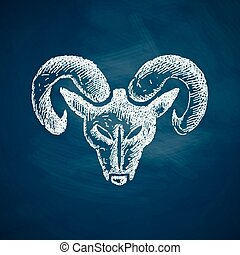 head of the ram icon