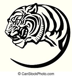 head of tiger tattoo