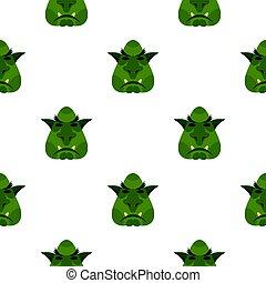 Head of troll pattern flat