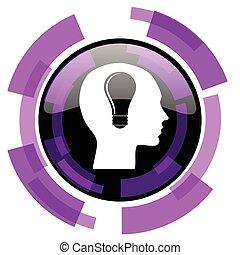 Head pink violet modern design vector web and smartphone...