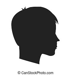 head profile mind icon