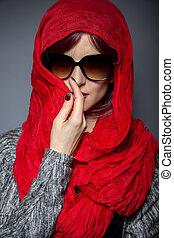 Head Scarf or Modern Hijab Fashion - Caucasian or Persian...