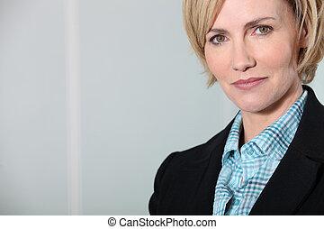 Head shot confident female executive