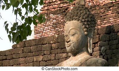 Head shot of Buddha image statue