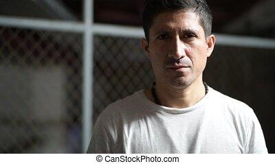 Head shot of Hispanic man wearing casual clothing - Portrait...
