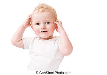 head, shoulders, knees and toos - Cute caucasian blond...