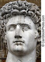Head statue of Julius Caesar