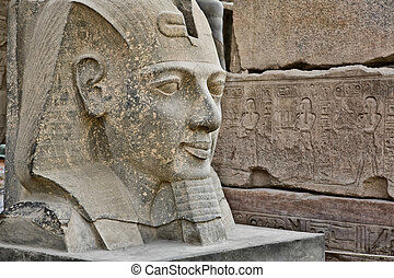 Head statue of Ramses II - The sculpture of Ramses II in...