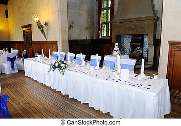 Head table at wedding reception