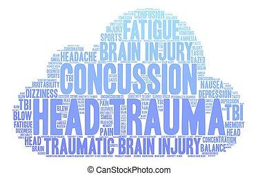 Head Trauma Word Cloud - Head Trauma word cloud on a white...