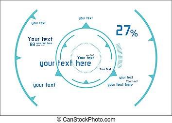 Head-up display - Futuristic infographics as head-up display