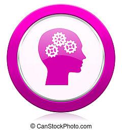head violet icon human head sign