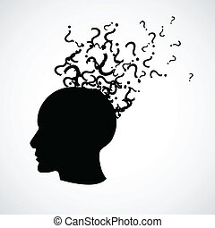 Head with a question marks
