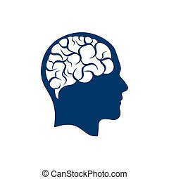 Head with brain vector illustration design