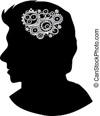 Head with gears cog