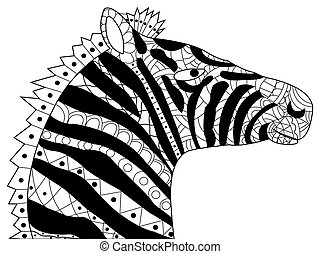 Little horse pony coloring vector for adults. Little horse ...