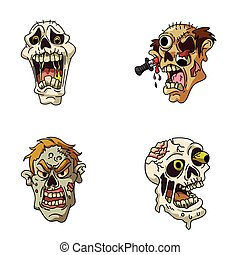 head zombie illustration design