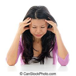 Headache Asian woman