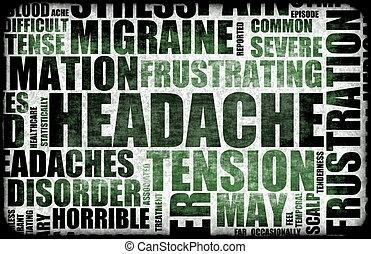 Headache - Severe Headache Medical Condition as a Background