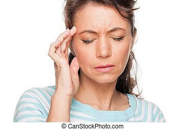 Headache - Woman with headache