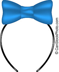 Headband with bow in blue design