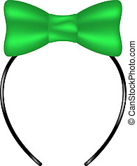 Headband with bow in green design