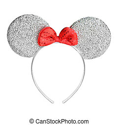 Headband with bow on white background