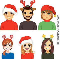 headbands, persone, natale, avatar